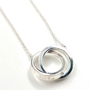 Tiffany & Co. Silver Double Ring Necklace